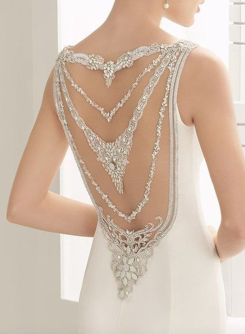 jewel straps on the open back