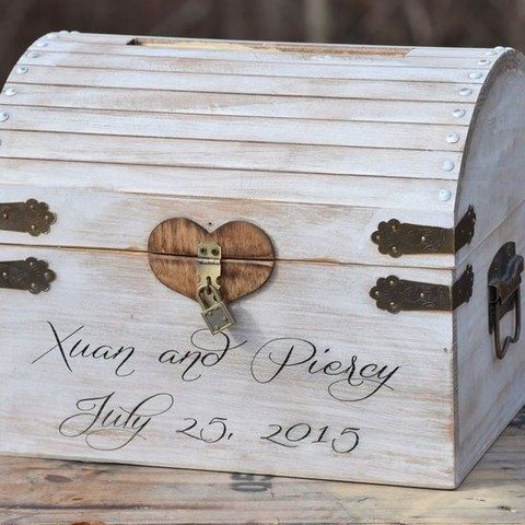 lockable distressed wedding card box