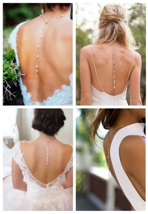 Bridal Back Necklace: 42 Adorable Ideas