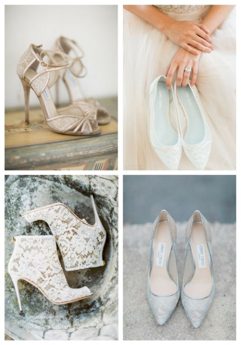 f93b52b403e8 33 Refined Lace Wedding Shoes Ideas