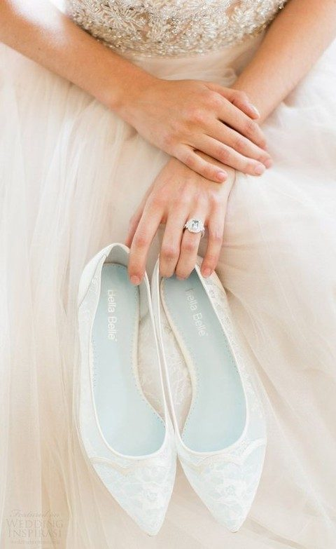 sheer ivory lace wedding flats