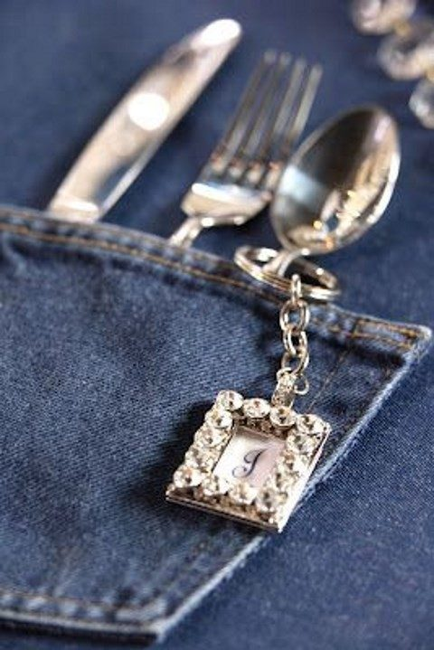 flatware denim pockets