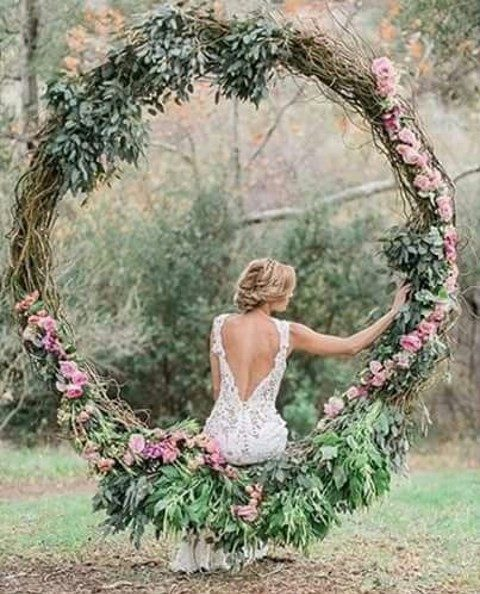 grapevine large wreath with leaves and pink flowers