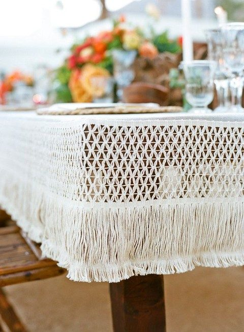 macrame wedding tablecloth