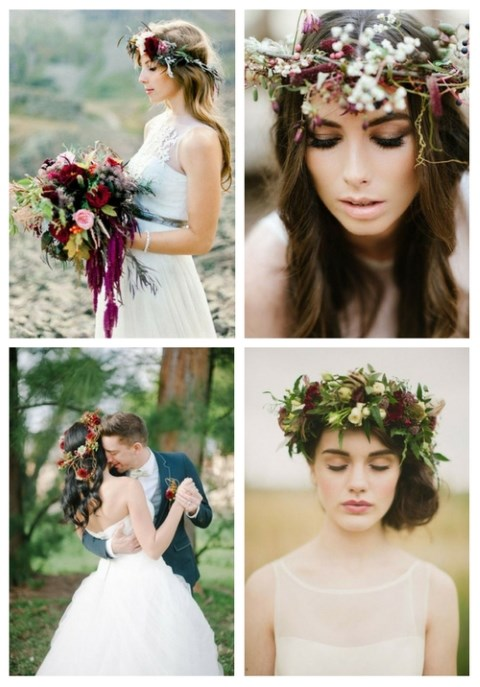 40 Beautiful And Bold Fall Floral Crowns For Brides