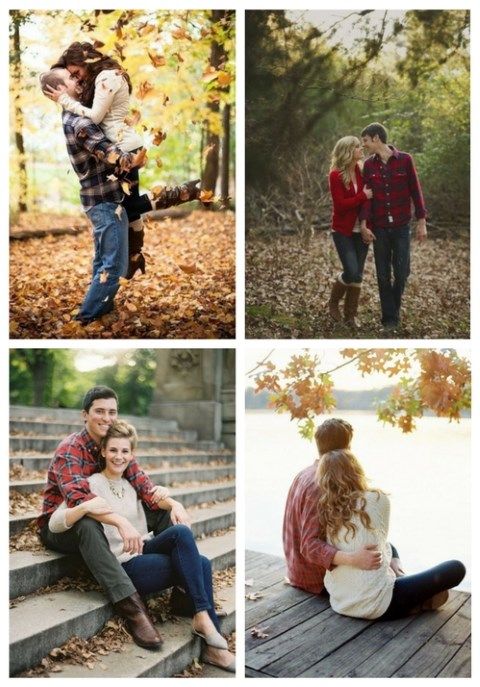 52 Romantic Fall Engagement Photo Ideas