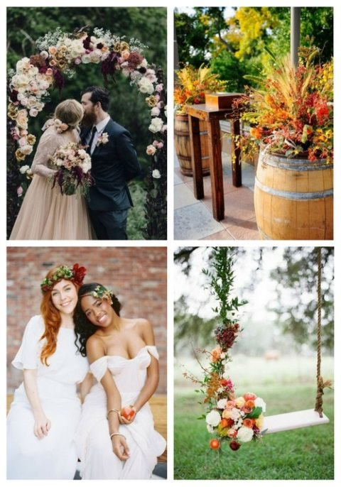 47 Enchanting Fall Garden Wedding Ideas