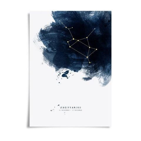 brushstroke constellation wedding stationary