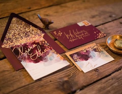 26 Chic Fall Wedding Stationary Ideas HappyWeddcom