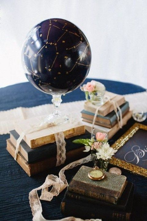 constellation globe for a vintage centerpiece