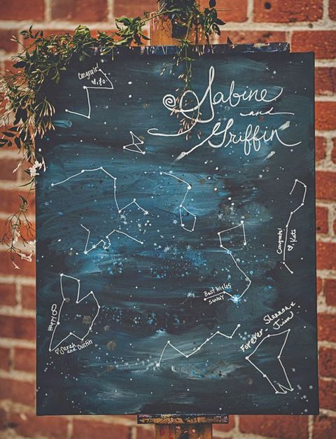 indigo constellation wedding seating chart