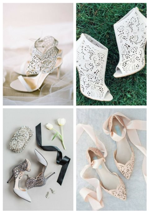 39 Laser Cut Wedding Shoes, Booties And Sandals