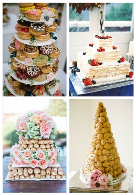 40 Non-Traditional Wedding Cakes You'll Love
