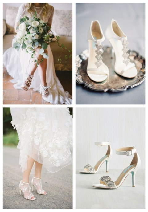 26 Non-Boring White Wedding Shoes