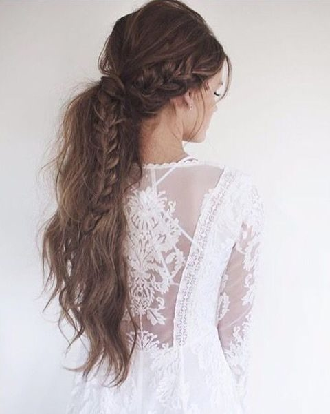 messy boho braid for long hair