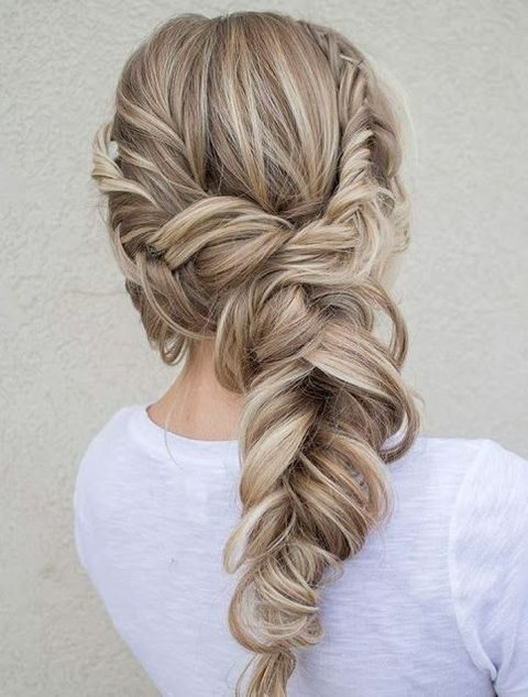messy twisted volume braid