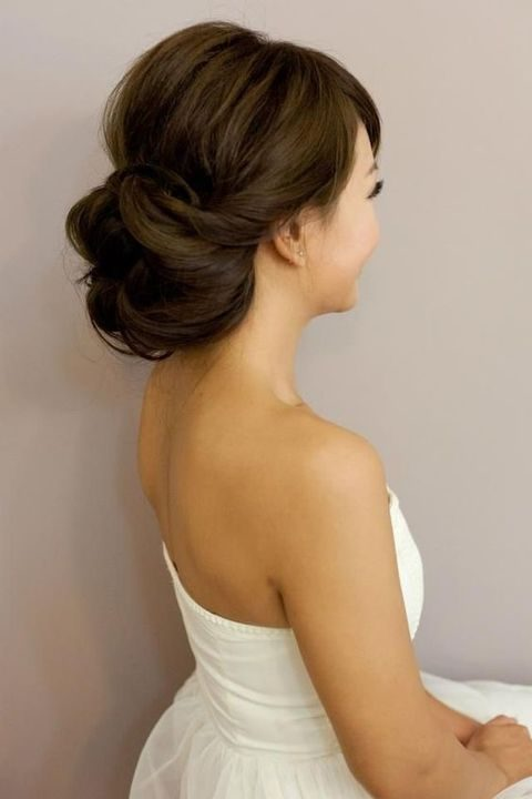twisted low updo