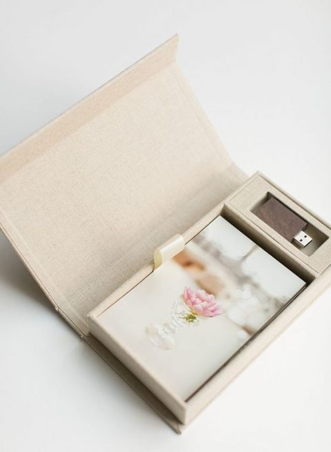 a chic packaging with photos just for him