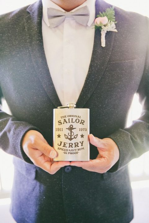 a cool rum flask for the groom