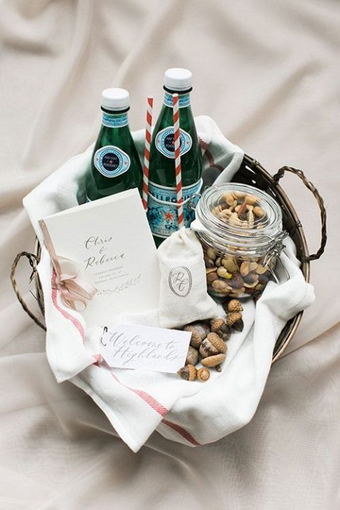 a jar of acorns and nuts will be a nice idea for a woodland wedding