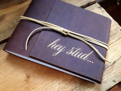 a stylish leather boudoir book for him