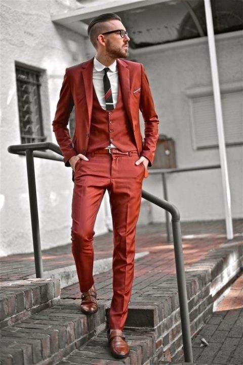 Nice Red Suit For Groom Pictures - Wedding Ideas - nilrebo.info