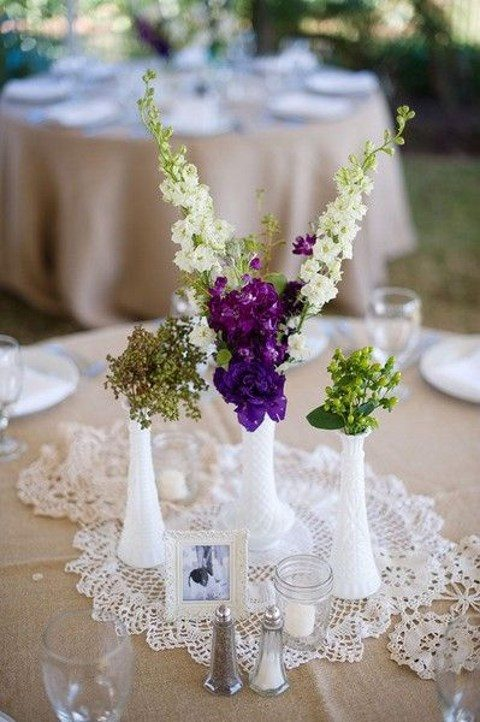 crochet doilies for accentuating table cetnerpieces