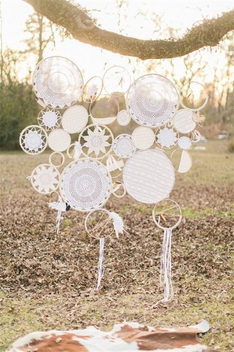 crochet doily dream catchers