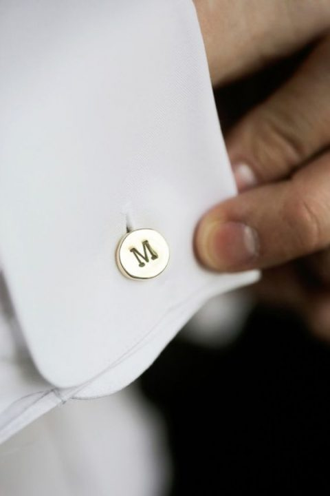 custom initial cufflinks for the groom