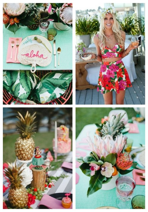 63 Bold And fun Tropical Bridal Shower Ideas