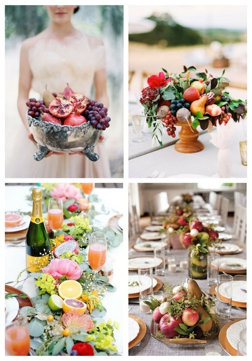 main Delicious Fruit Wedding Centerpieces
