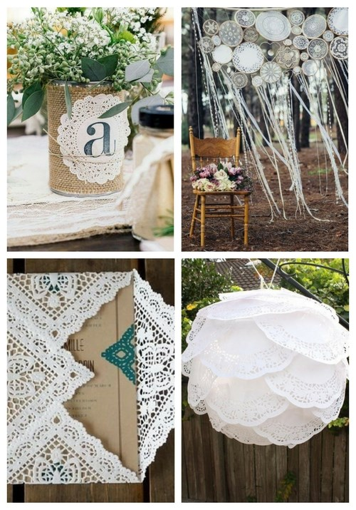 34 Doily Wedding Décor Ideas