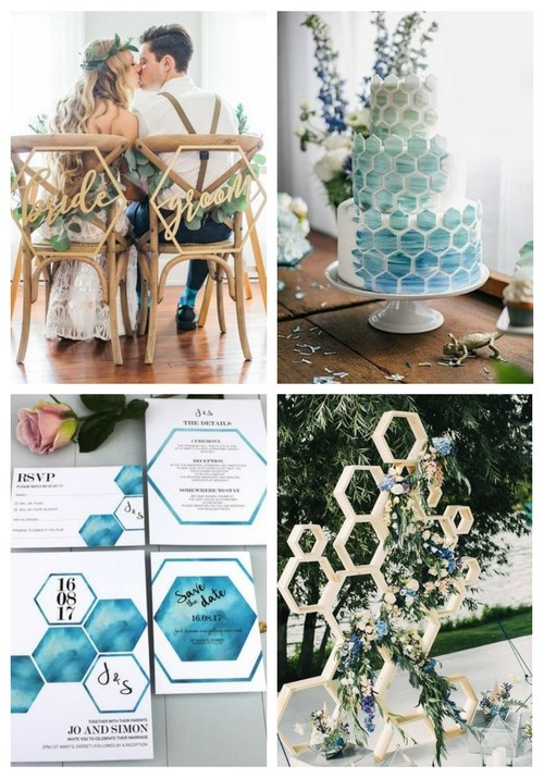 31 Edgy Hexagon Wedding Ideas