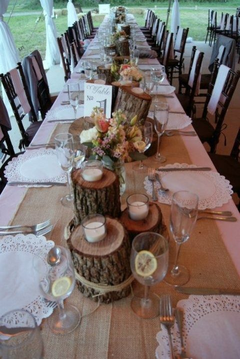 paper doilies as wedding table chargers
