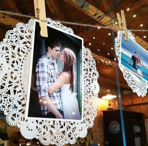paper doilies for displaying your photos