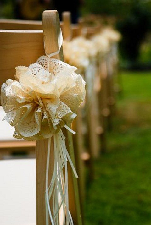 Paper Doilies Wedding Aisle Decorations