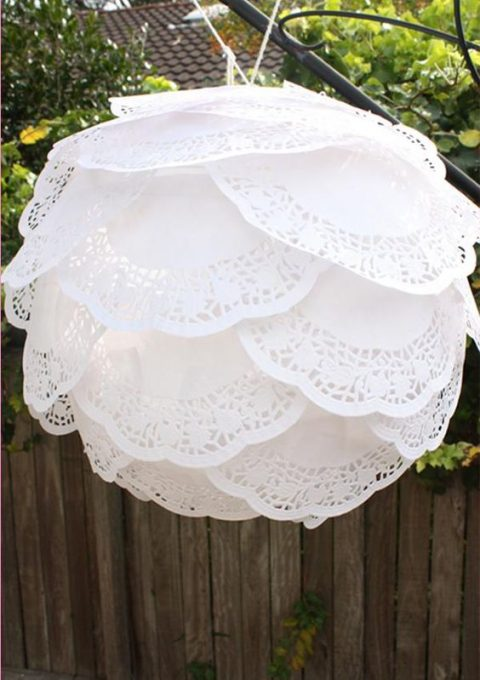 paper doily lantern can be a sweet decoration for your dance floor