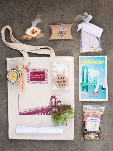 personalize your welcome bags with local cards
