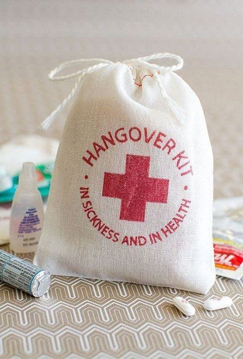 take care of your guests and add a hangover kit, it may save lives