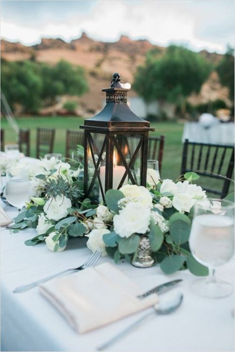 35 Chic Lantern Wedding Centerpieces | HappyWedd.com