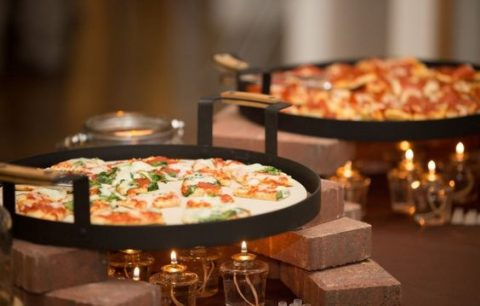 a genius idea to warm up pizzas with light because non one loves them cold