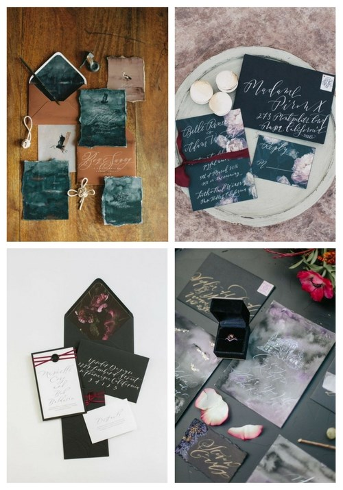 25 Chic Moody Wedding Stationery Ideas