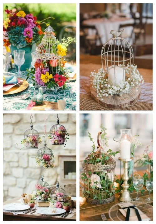 33 Elegant Birdcage Wedding Centerpieces