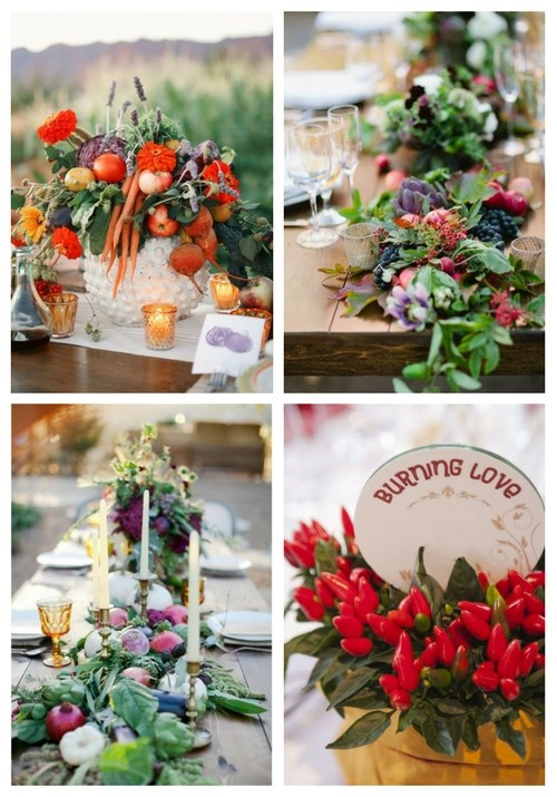 29 Fail-Proof Vegetable Wedding Centerpieces