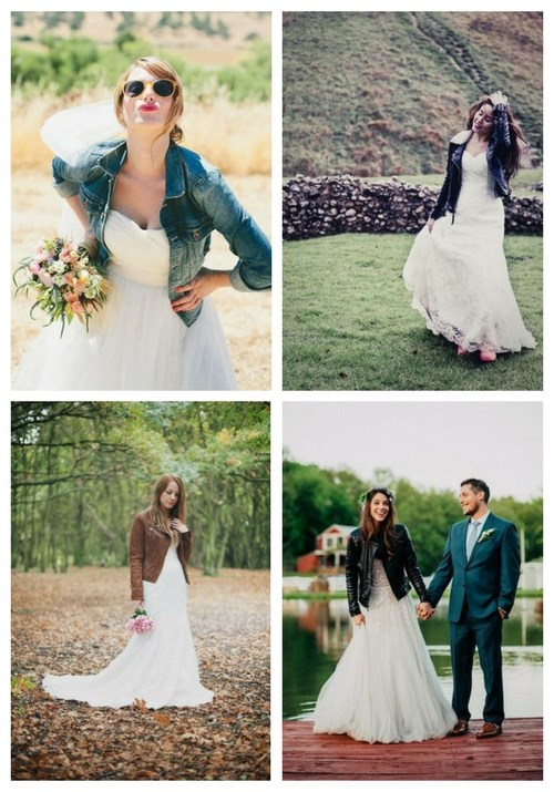 Dare to Rock: 35 Bridal Jackets Of Leather And Denim