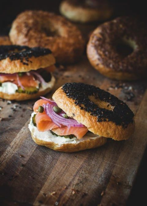 smoked salmon bagel sandwiches will be amazing appetizers