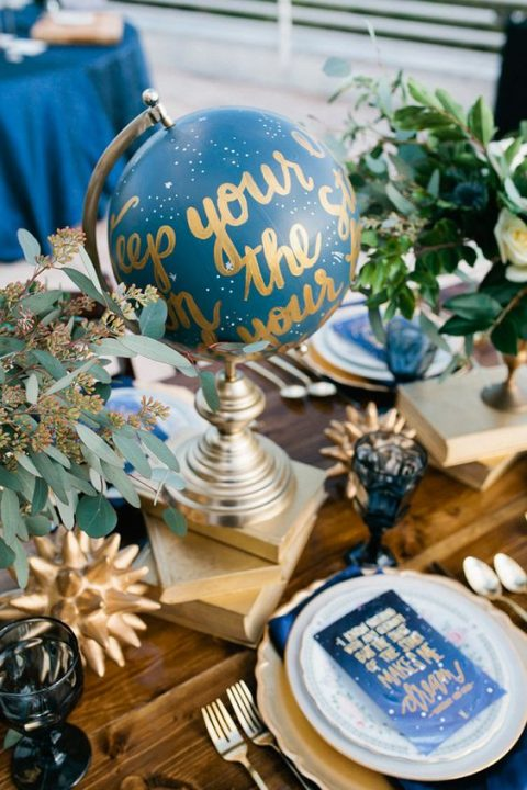 starry globe can be DIYed for your reception table