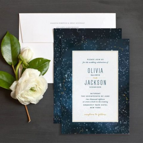 starry night wedding invites