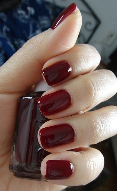 a classic red manicure will fit almost any bridal look