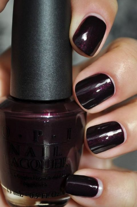 black cherry nails to make a statement with color